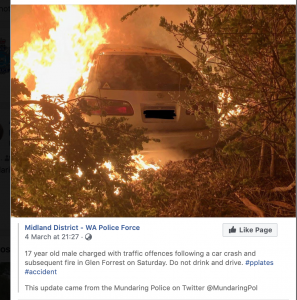 Police facebook post