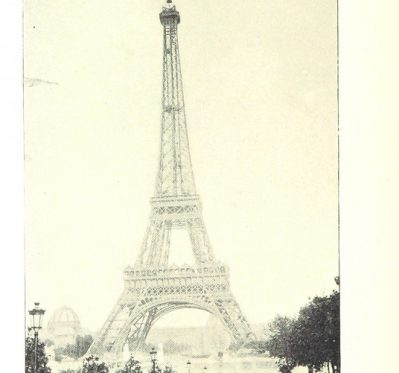 Sepia photograph of the Eiffell Tower